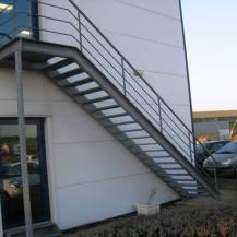 Escalier métallique droit, 2Bsi Concept